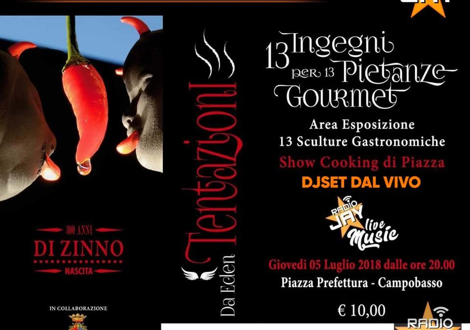 RADIOJAY COOKING SHOW CORIOLIS CAMPOBASSO ITALY ! 5 Luglio 2018